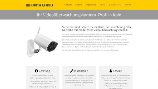 Webseite Videoüberwachung
